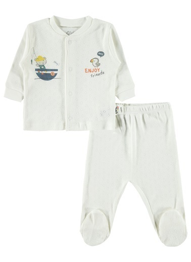 Civil Baby Erkek Bebek Pijama Takımı Ekru